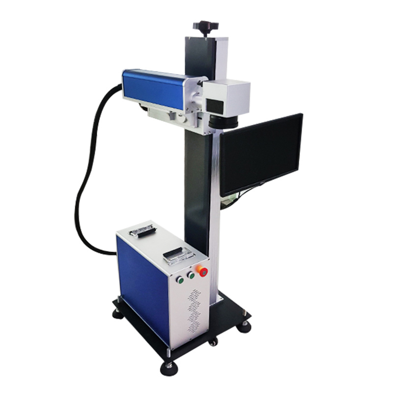 Fiber Online Flying Laser Marking Machine with Raycus 20W 30W 50W