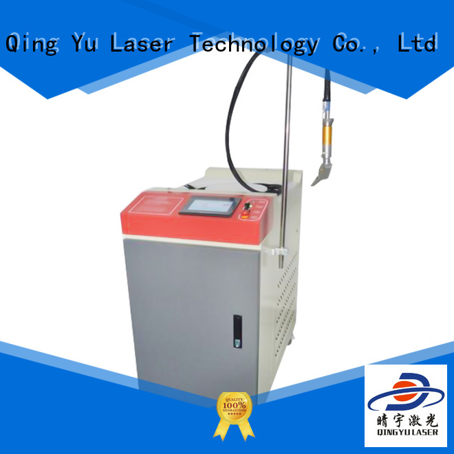 Qingyu laser welding machine low energy consumption for outer right angle