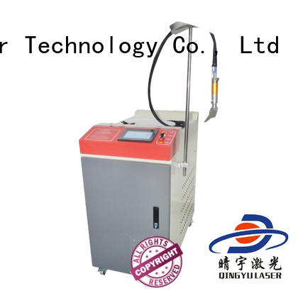 Qingyu good quality fiber welding machine for outer right angle