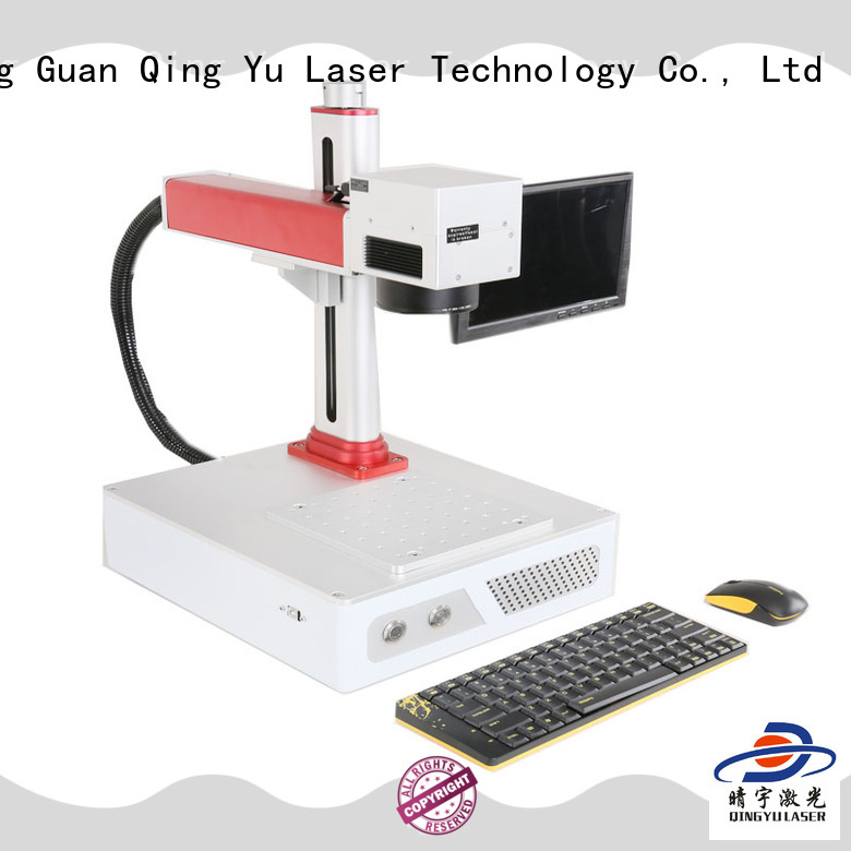 Qingyu high speed portable laser marking machine for leather