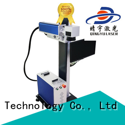 Qingyu high speed laser marker supplier for leather