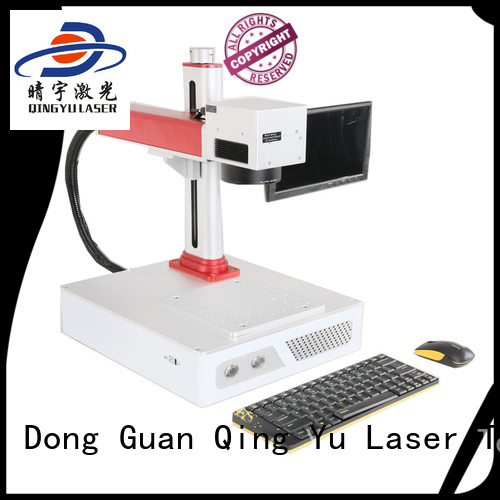 Qingyu high precise laser marking machine manufacturers customized for beverage