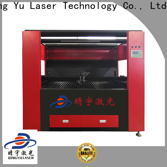 Qingyu wood laser engraving machine factory price for rubber