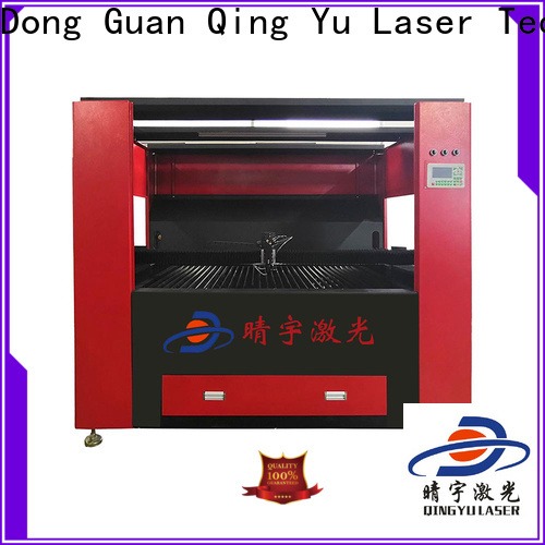 Qingyu stable wood laser engraving machine factory price for leather