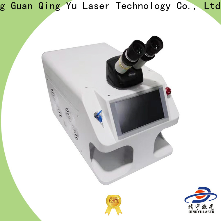 Qingyu good quality laser welding equipment low energy consumption for inner right angle