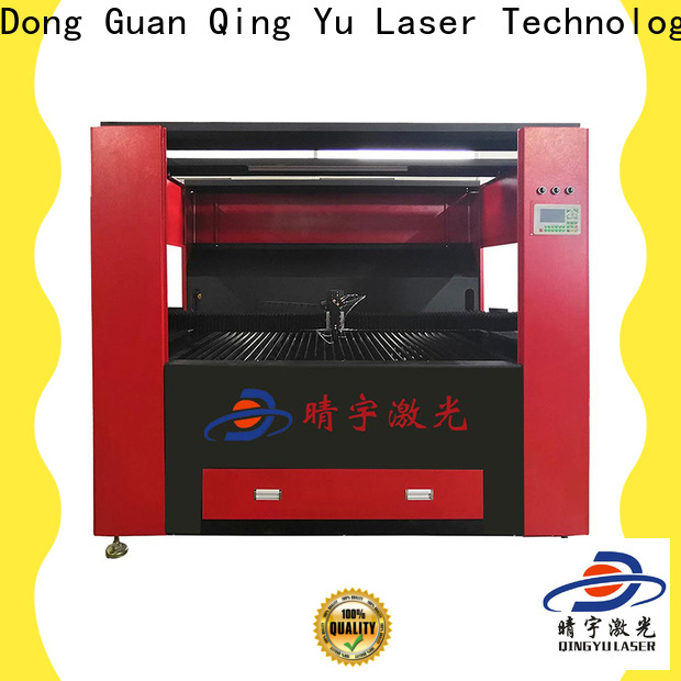 Qingyu wood laser engraving machine promotion for marble