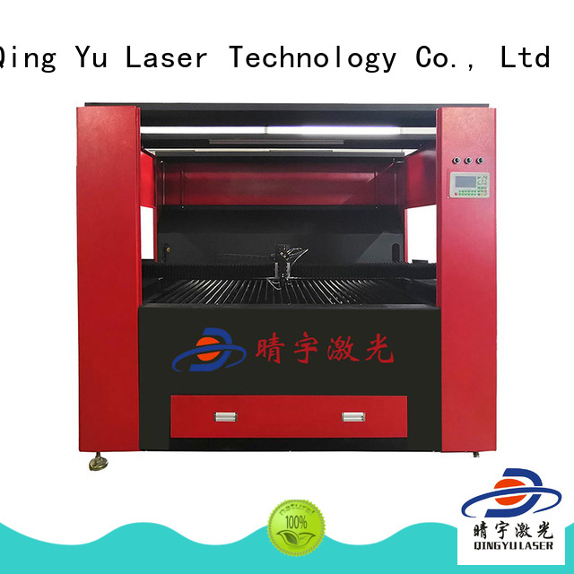 Qingyu high speed wood laser engraving machine promotion for glass