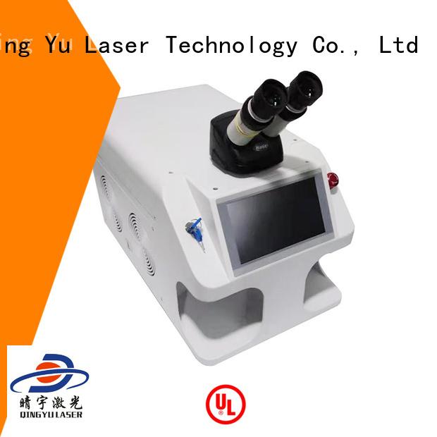 Qingyu stable laser welder low energy consumption for flat weld welding